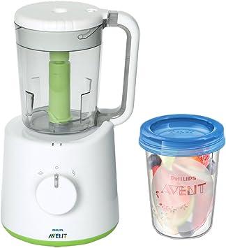 Philips AVENT - Robot de cocina con 5 tarros para conservar la comida, color blanco: Amazon.es: Bebé