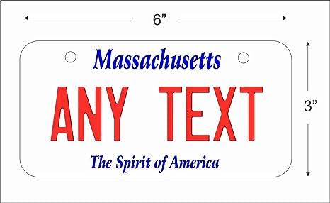 Amazon.com: Massachusetts State Replica - Placa de matrícula ...