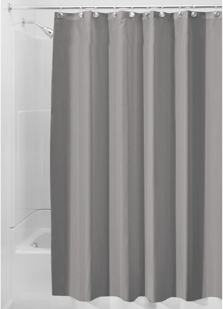 2-in-1 Water Repellant 70 x 72 Polyester Fabric Shower Curtain//Liner 11 Colors
