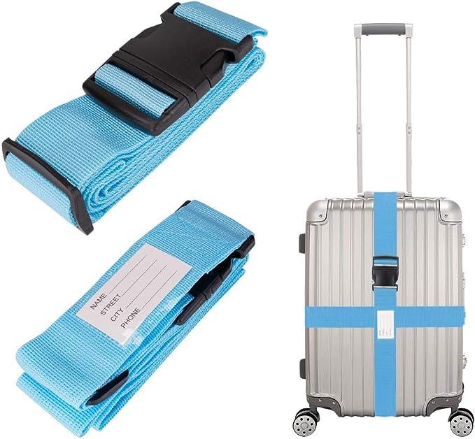 Linkax Luggage Packing Belt(2 Pack),Travelling Bag,Suitcase Belts,Adjustable Luggage Strap,Suitcase Belt Adjustable