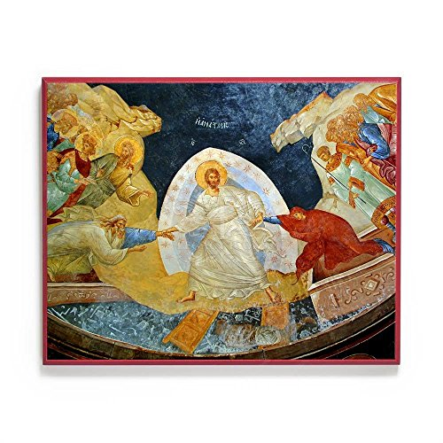 Harrowing of Hades (Chora) Icon (6x7.5) Mounted on Wood by Legacy Icons ()