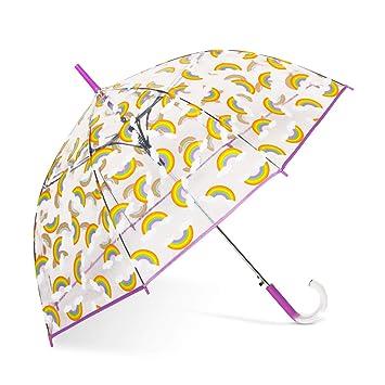d8f8f4ee8 Amazon.com | ShedRain Auto Open Clear Rainbow Print Clear Bubble Umbrella:  Dream Rainbows | Umbrellas