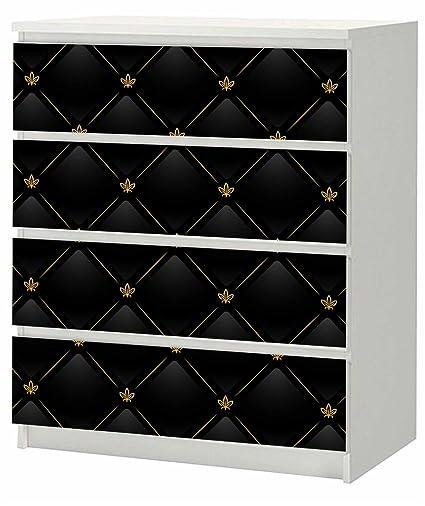 Adhesivo para cómoda de Ikea Malm (80 x 100 cm Black Piel ...