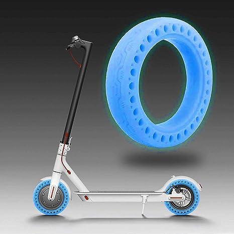 Neumático fuorescente, 8,5 Pulgadas Neumático Sólido de Panal Neumático Fluorescente Neumático Sólido Luminoso Sin Tubo para Scooter Eléctrico