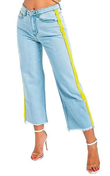 Amazon.com: IKRUSH - Pantalones vaqueros para mujer, diseño ...