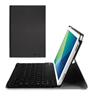 Fintie Keyboard Case for Samsung Galaxy Tab A 10.1 with S Pen, Slim Shell Light Weight Stand Cover with Detachable Wireless Bluetooth Keyboard for Galaxy Tab A 10.1 with S Pen(SM-P580/P585), Black