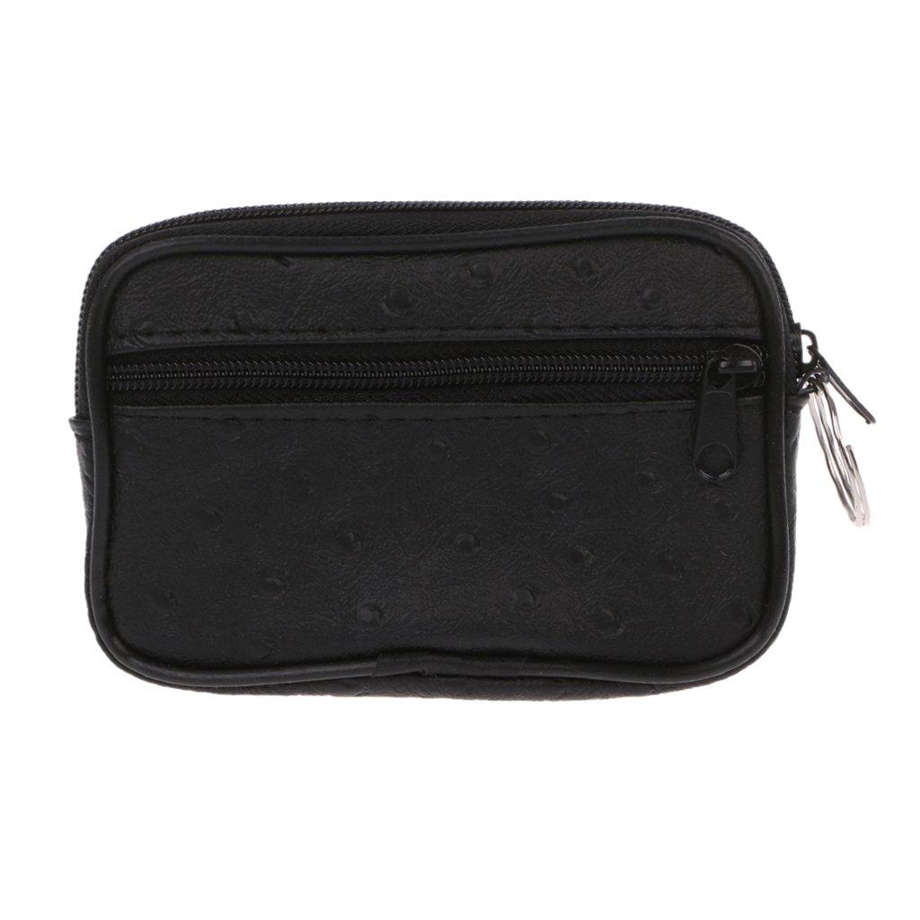 Deendeng Soft Men Women Card Coin Key Holder Zip Change Pouch Wallet Pouch Bag Purse Gift