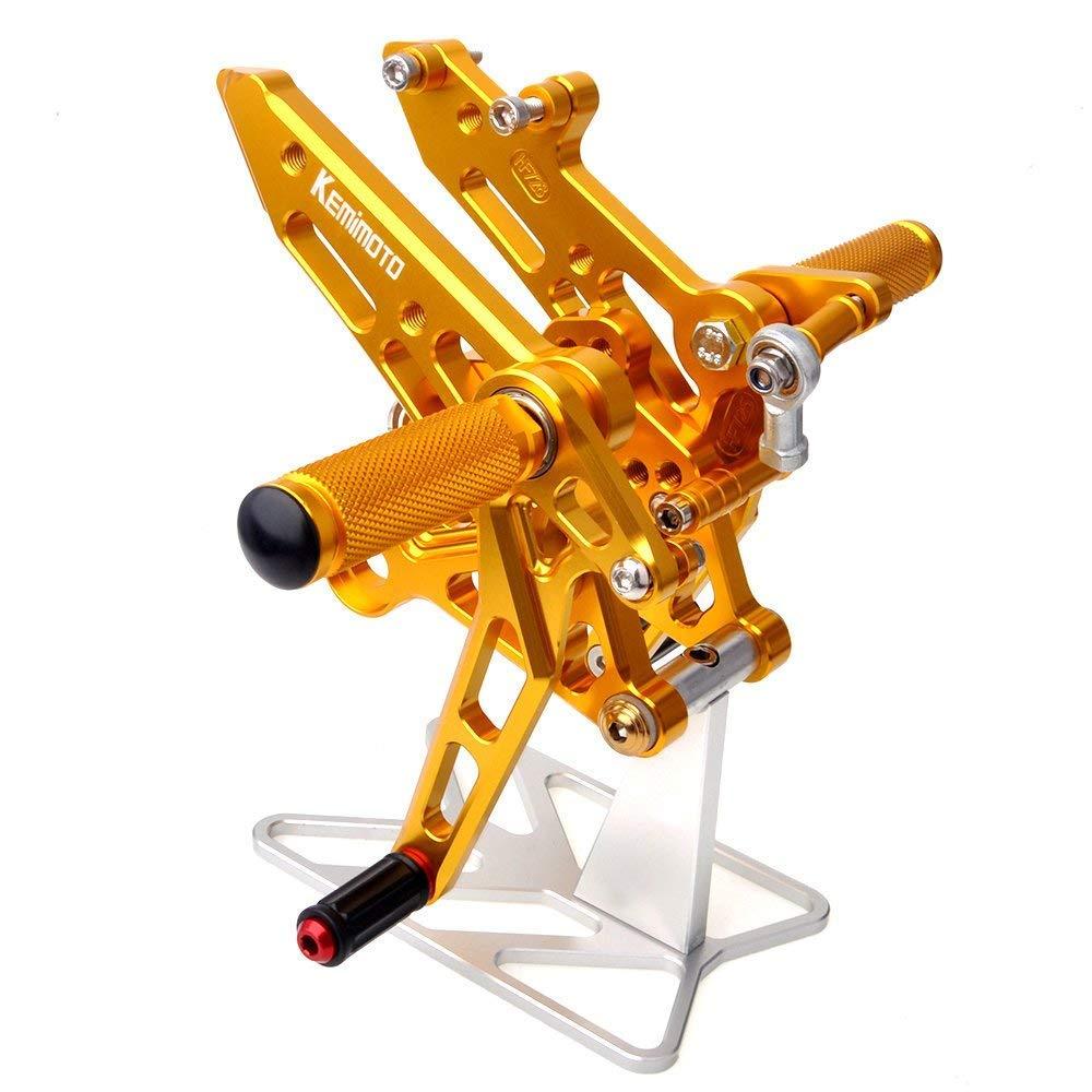 honda ホンダ 用 アジャスター可能 GROM グロム ステップキット ブレーキランプスイッチ付け可能 CNC バックステップ 適合車種 MSX125 (ゴールド)  ゴールド B07HFPNKGT