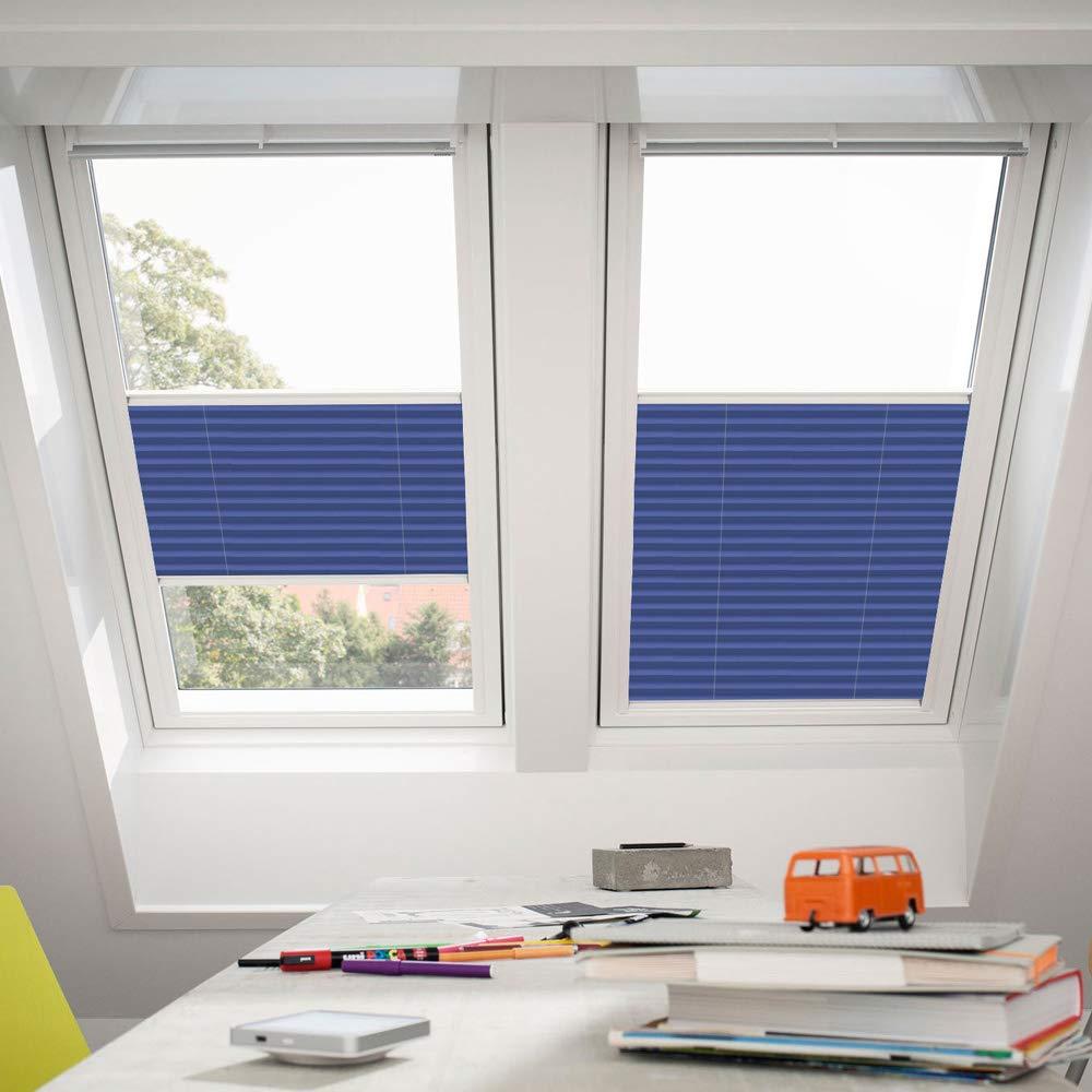 Orignal VELUX Plissee   Faltstore FHL S06 1268S   Bedienart   Manuell   Farbe   Dekor Blau   Fenstergröße   S06   Fenstertypen   GGU, GGL, GPU, GPL, GHU, GHL, GTU, GTL, GXU, GXL _17240