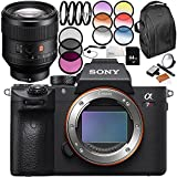 Sony Alpha a7R III Mirrorless Digital Camera with Sony FE 85mm f/1.4 GM Lens 9PC Accessory Bundle – Includes 64GB SD Memory Card + MORE