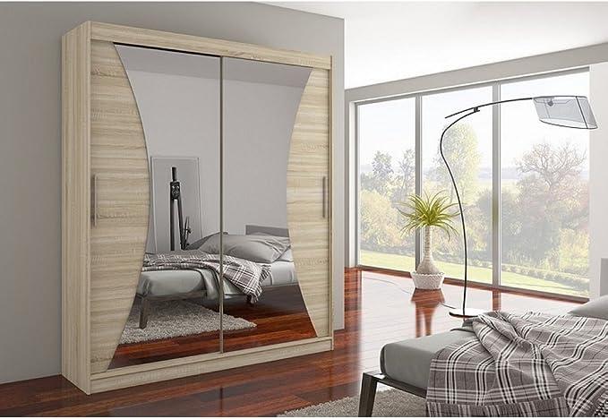 JUSTyou Charlotte Armario ropero con Puertas correderas Tamaño: 215x180x58 cm Color: Sonoma: Amazon.es: Hogar