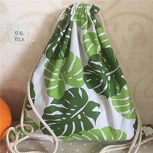 yile lino y algodón cordón mochila Bolsa de viaje estudiantes ...