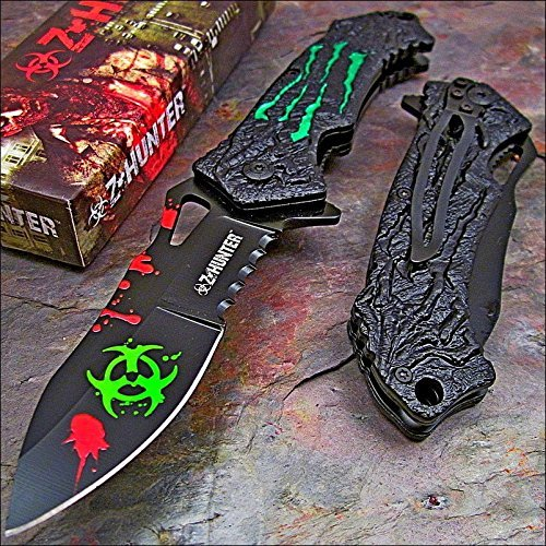 (Zombie Hunter Green Monster Claws Biohazard Pocket)