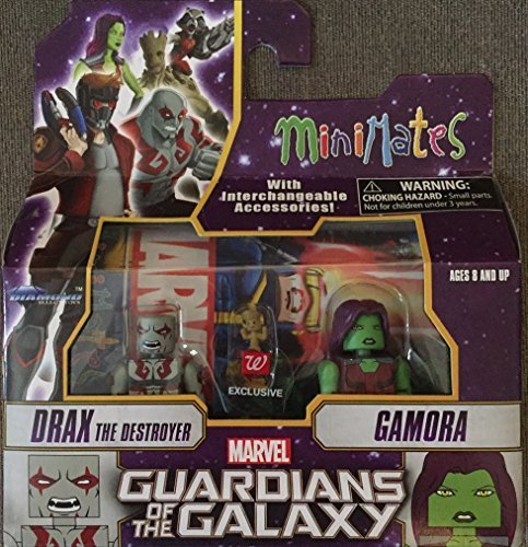 Minimates Marvel Guardians of the Galaxy Drax the Destroyer Gamora and Baby Groot Exclusive Figure Pack