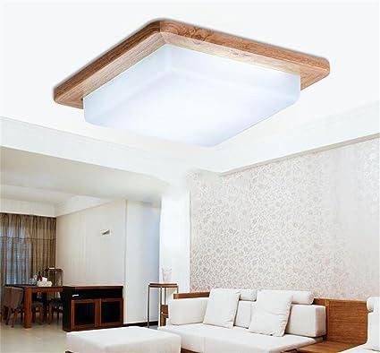 Lámparas de techo decorativas Madera lámpara de techo ...