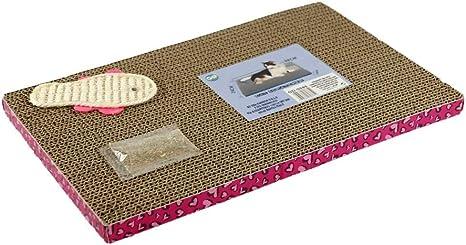 GATTO&DOG Rascador para Gatos de cartón con Bolsa de Hierba gatera ...