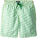Vilebrequin Kids Boy's Micro Ronde Des Tortues Swim Trunk (Big Kids) Green 10 Years