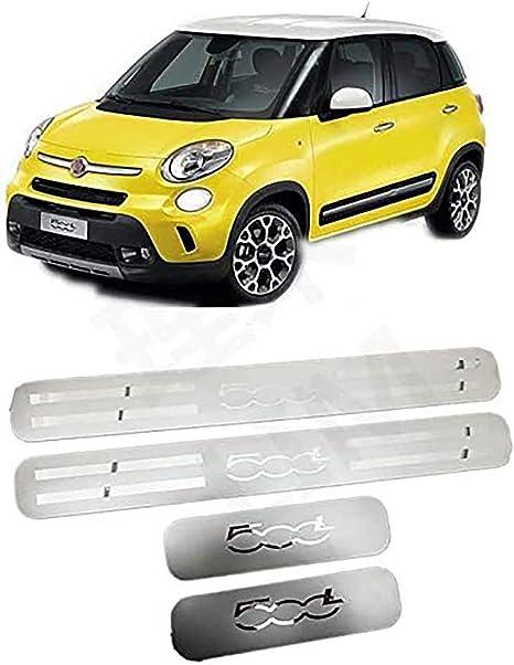Door Sill Scuff Plate Car Styling Accessorio N//A 4Pcs Battitacco Acciaio Inox per Fiat 500L 2014-2019 4-Door Soglia della Porta Protezioni Trim Pedali