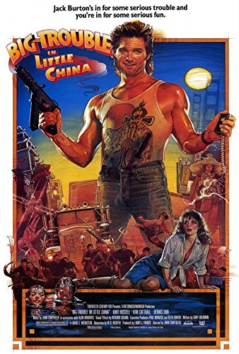 Big Trouble in Little China Movie Poster, Kurt Russell, A Made In The U.S.A