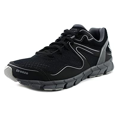 361 Breeze Men Round Toe Synthetic Black Running Shoe