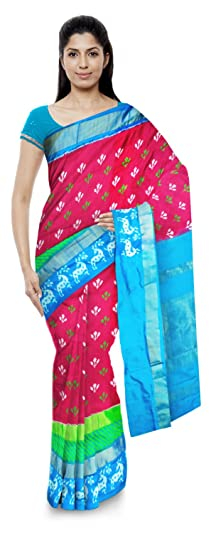 Chennakeshavulu Ikkat Pochampally Silk Saree (Ce18_Multi-Coloured)