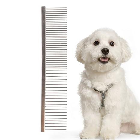 Más * Atención 1pcs mascota perro gato pelo de metal doble ...