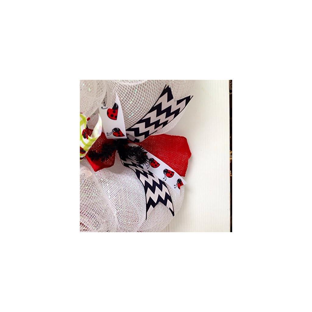 Adorable-Lady-Bug-Handmade-Deco-Mesh-Wreath