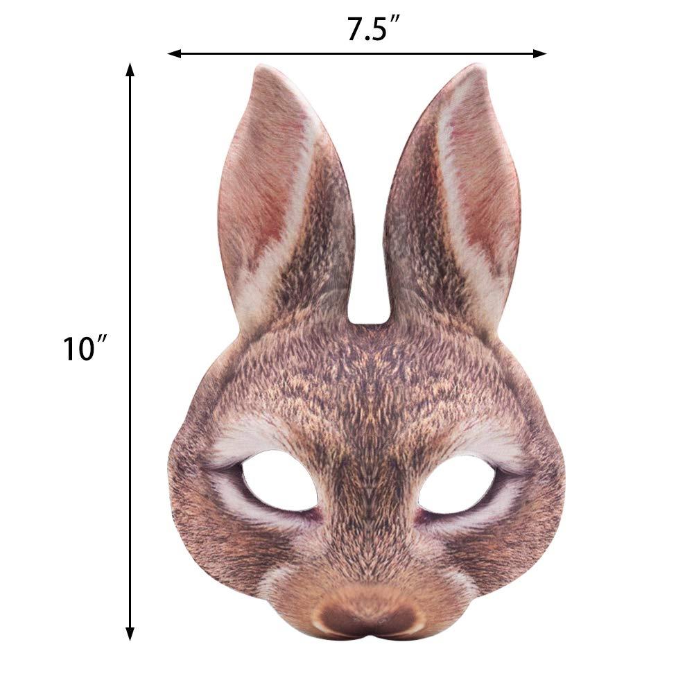 LoveInUSA Easter Bunny Half Mask Animal Adult Costume