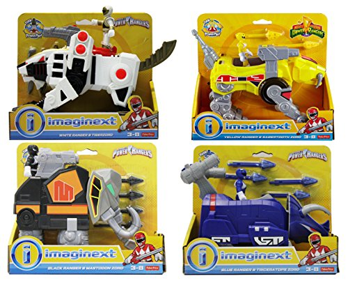 Fisher Price Imaginext Power Rangers Figures and Zord's 4-Pack Bundle Battle Set