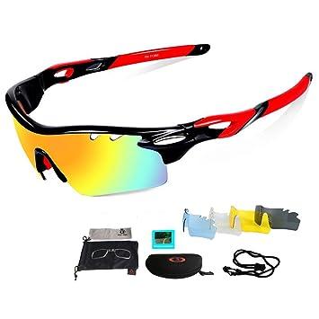 Unisex Cilindro de gafas de sol Gafas, protección UV, cristales de recambio 3 Incluye