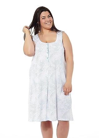 Camisón Mujer Verano Tallas Grandes. Varios Estampados. Manga Corta y Tirantes. Tallas Grandes. Mabel Big&Beauty Tallas 50 a la 70