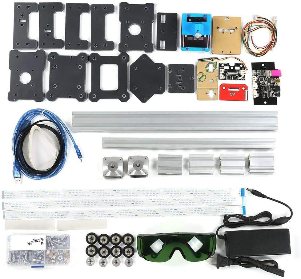 XY Plotter Kit, Robot de Dibujo de Metal de m¨¢quina de Dibujo de Alta precisi¨®n de 2 Ejes para Geeks, Creadores, Aficionados al Bricolaje, Estudiantes (110-240V): Amazon.es: Hogar