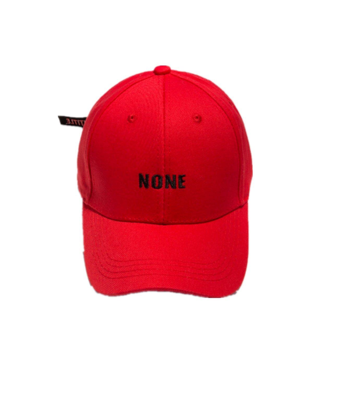 BTS Bangtan Boys Love Yourself Cap Same Style Like Rap Monster J-Hope Hat Fanshion Casual Adjustable Dad Hat Hip Hop Hat (red)
