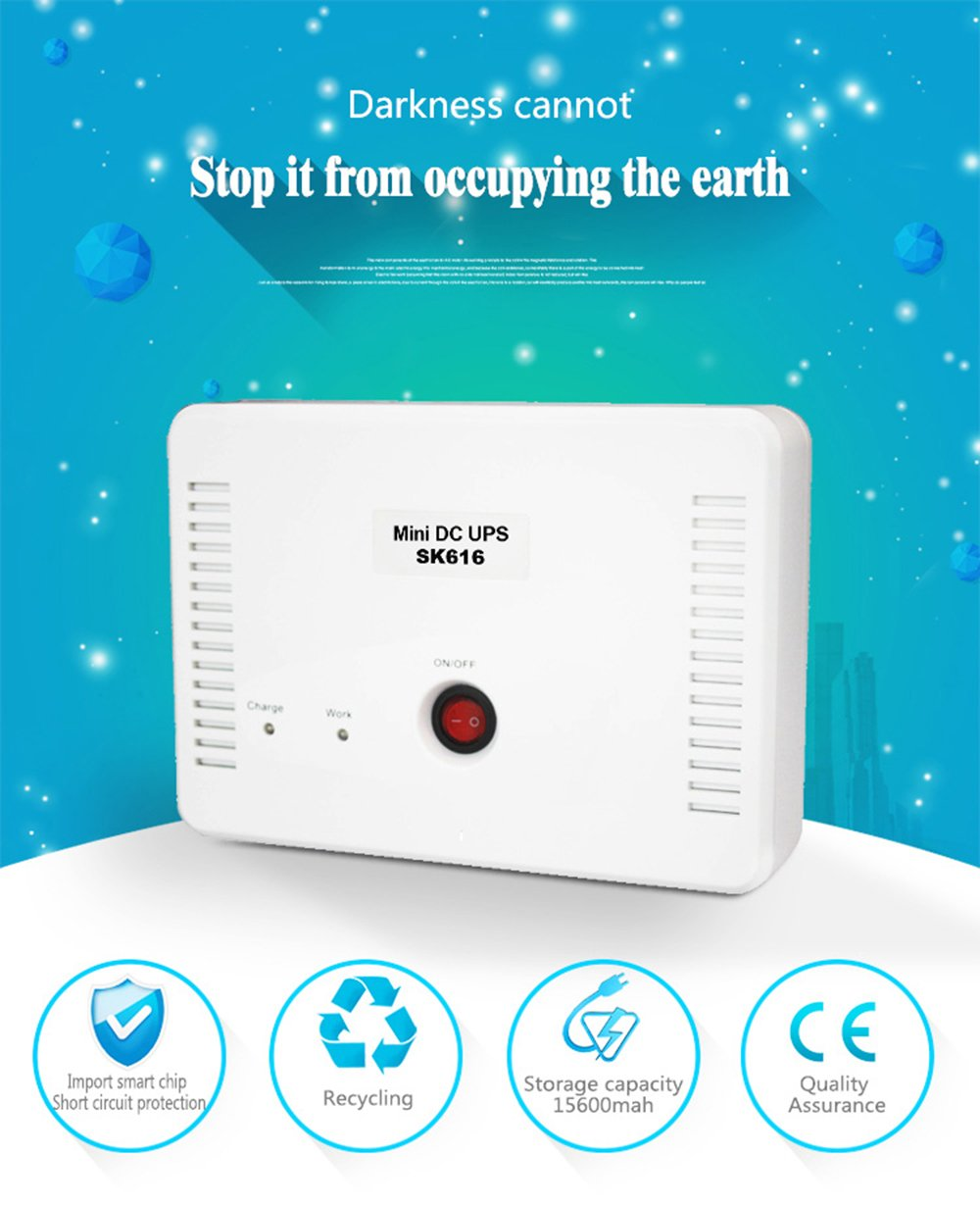 Mini DC UPS Application, Power Bank for Home Office, Multi Input ...