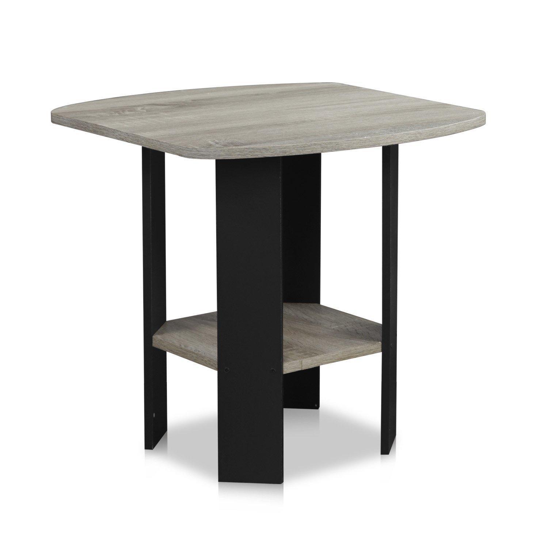 amazon com furinno 11180gyw bk simple design end side table