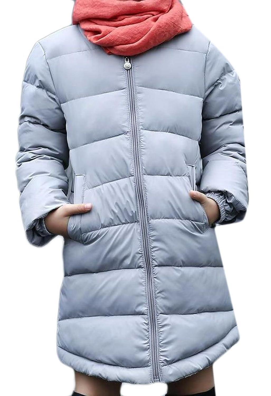 Beloved Little Girl Long Sleeve Solid Color Down Coat Jacket