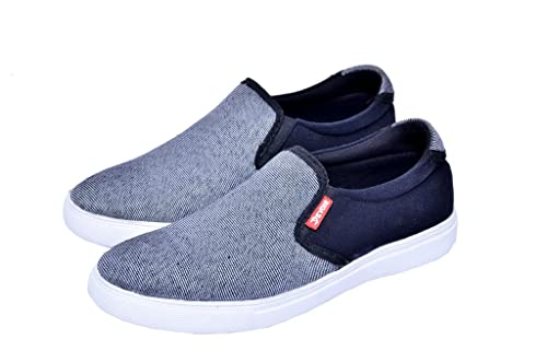 Boys Canvas Without Lace Sneakers Grey