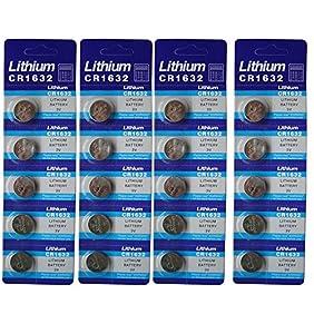 Generic Cr1632 Br1632 1632 3V Lithium Batteries 20 Pcs 4 Cards