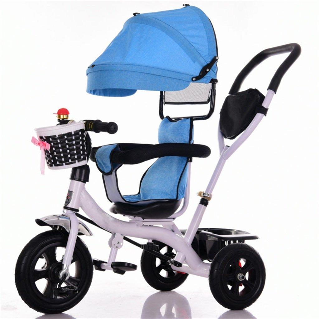 KANGR-子ども用自転車 三輪車ベビーキャリッジバイク子供おもちゃトロリーチタンホイール/泡ホイール自転車3ホイール、回転可能な座席(ボーイ/ガール、1-3-5歳) ( 色 : A type ) B07C9RKSSGA type