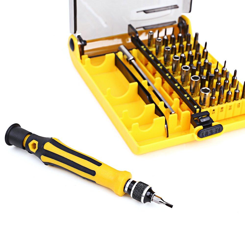 45 en 1 destornillador Torx de precisión juego de herramientas Kit ...