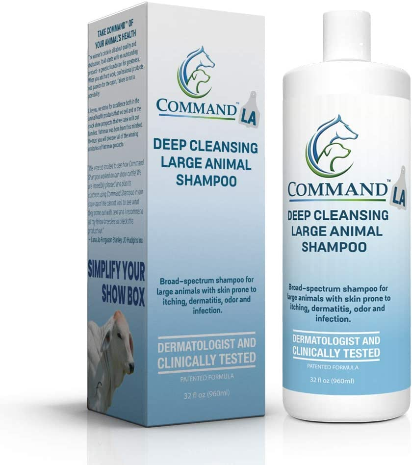 VetriMax Command LA deep Cleansing Large Animal Shampoo 32 Ounces