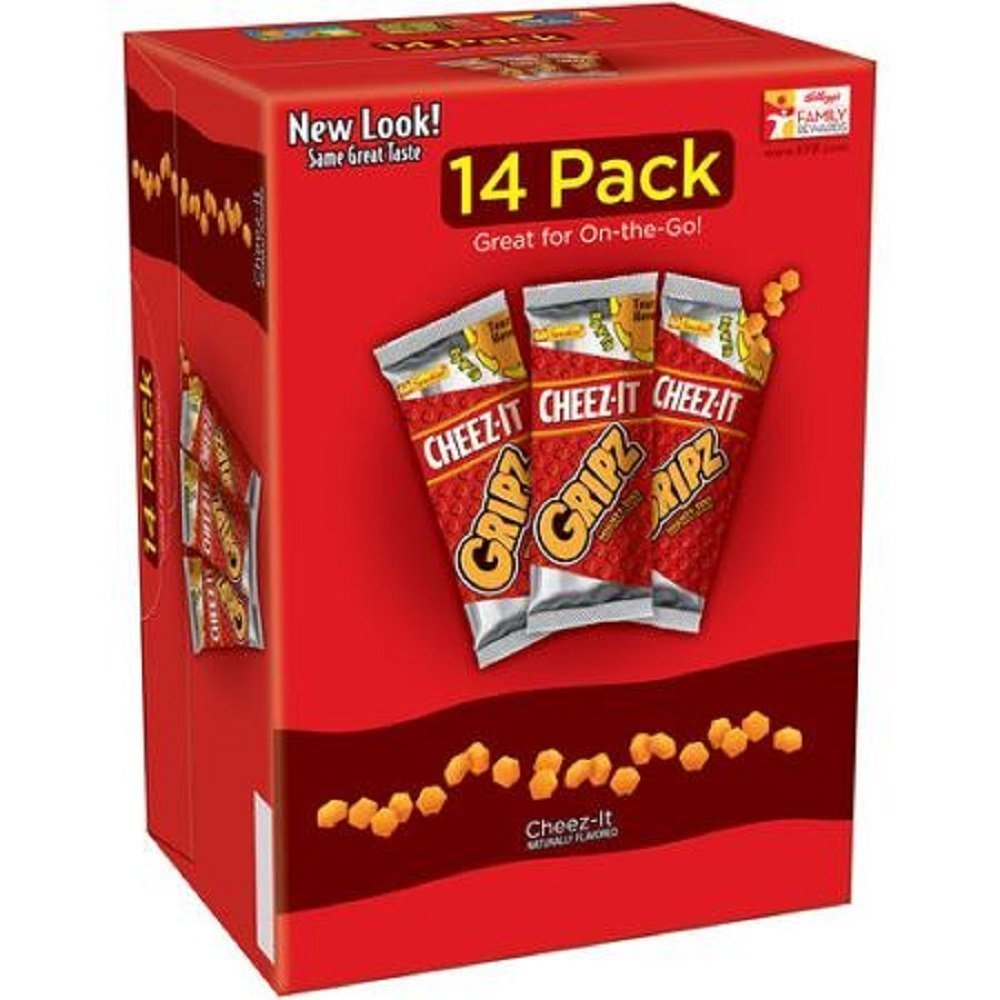 Sunshine Bakeries, Cheez-It, Gripz, 14 Count, 12.6oz Box (Pack of 2)