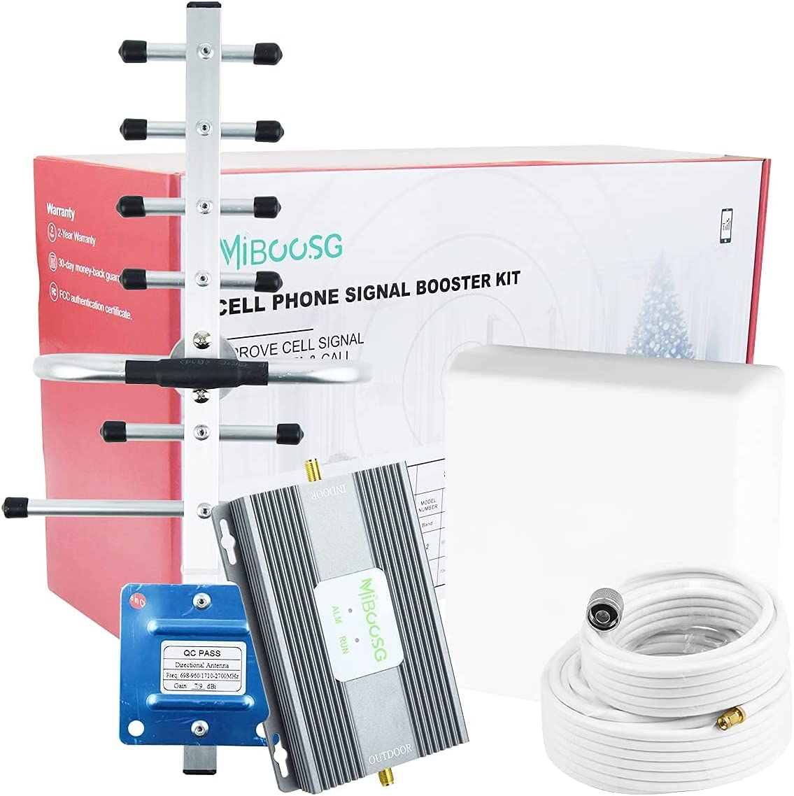 Cell Phone Signal Booster AT&T Cell Booster Home 4G LTE Band 12/17 T Mobile ATT Cell Phone Booster ATT Signal Booster Repeater for Home T-Mobile US Cellular 65dB Stop Dropped Calls for Rural Area