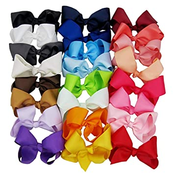1940f082c855 Image Unavailable. Image not available for. Color  OD lover Girls Fashion  Ribbon Big Bow Hair Alligator Clips Headwear Clips