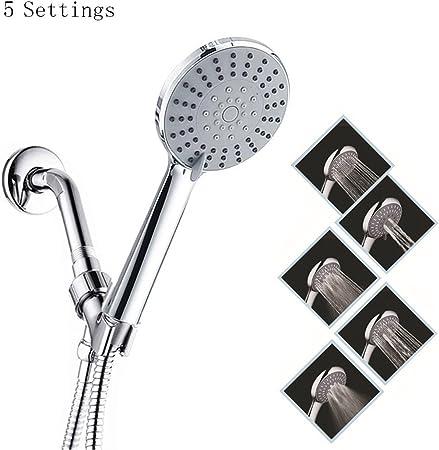 Amazon.com: Ajustes de alta presión 5spray cabezal de ducha ...