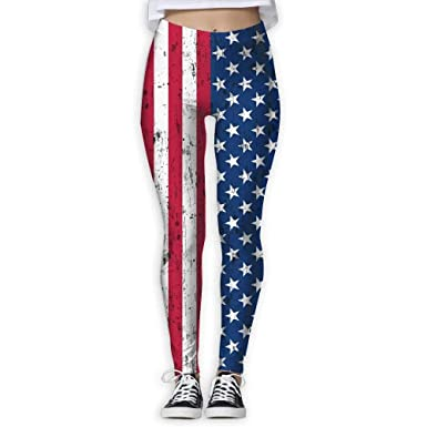 953fb34bb5 Amazon.com: husaewi American Flag The Stars and Stripes Womens Full-Length  Sports Running Yoga Workout Leggings Pants Stretchable: Clothing