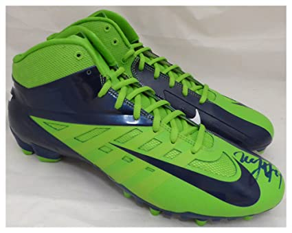 4f05e0a4a17 Marshawn Lynch Autographed Signed Nike Cleats Shoes Seattle Seahawks ML  Holo Stock #131209 - Certified