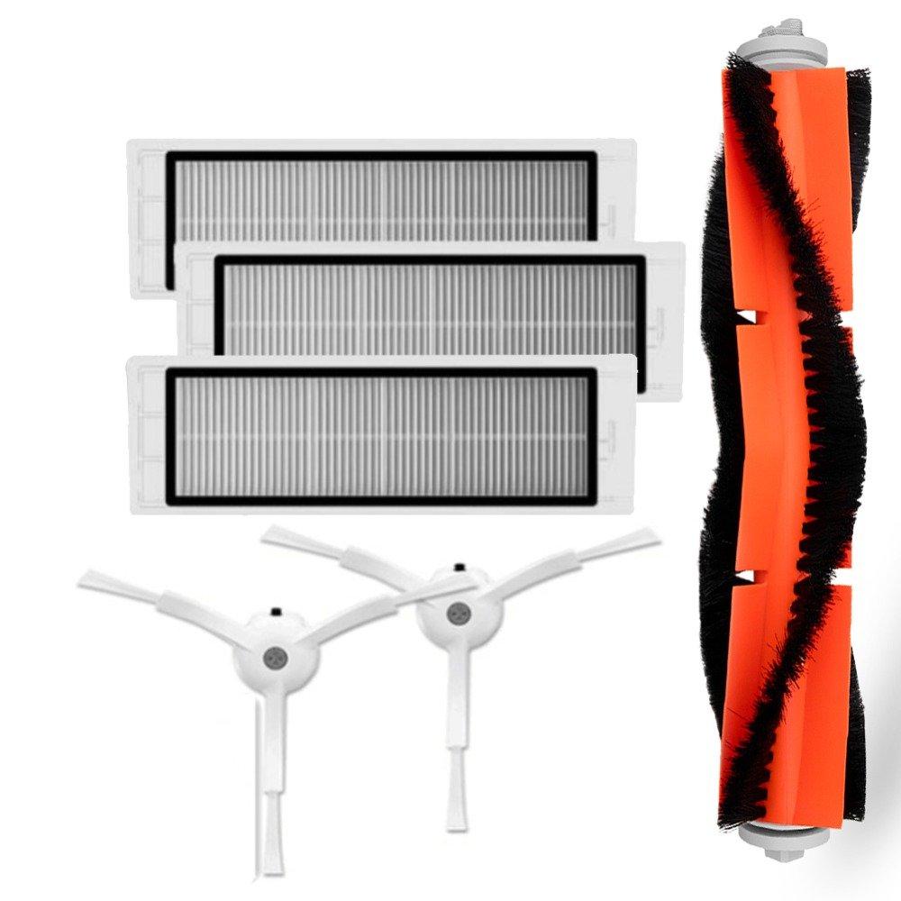 Acquisto TOOGOO 3 pz filtro hepa + 2 spazzole laterali PC + 1 spazzola principale PCS Adatto per Xiaomi Mi Robot accessori per aspirapolvere Prezzo offerta