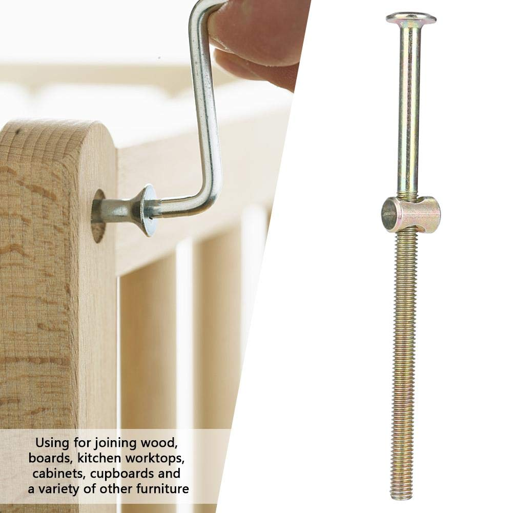 Rust Protection Portable 120mm Furniture Bolt Furniture Connector for Joining Boards Joining Cupboards Joining Cabinets Joining Wood