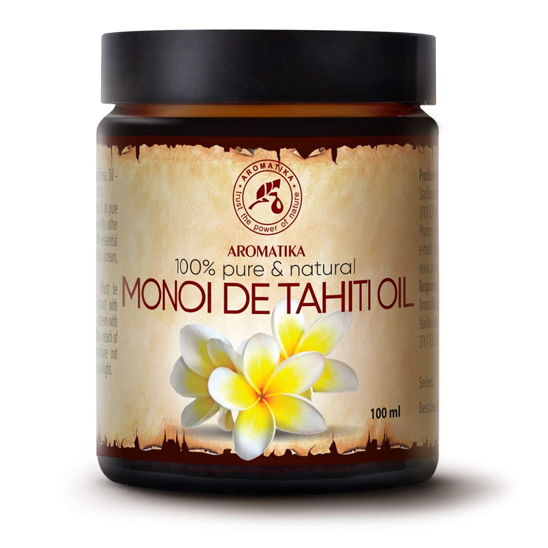 Monoi de Tahiti Carrier Oil 3.4oz - Pure Cold Pressed Monoi Base Oil - Cocos Nucifera - Gardenia Tahitensis - Unrefined Carrier Oil for Essential Oils - Face & Body Care - Massage